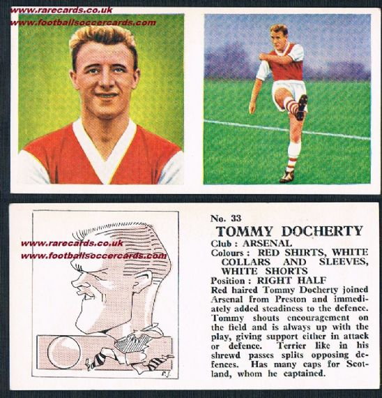1959 Arsenal To1959 Arsenal Tommy Docherty PINK Chixm Docherty PINK Chix